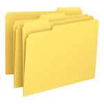 Smead File Folder 12943, 1/3-Cut Tab, Letter, Yellow