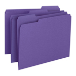 Smead File Folder 13043, 1/3-Cut Tab, Letter, Purple