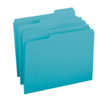 Smead File Folder 13143, 1/3-Cut Tab, Letter, Teal