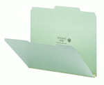 Smead Pressboard File Folder 13275, 2/5-Cut Tab Right of Center Position, Guide Height, 1