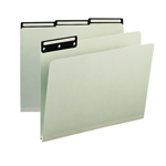 Smead Pressboard File Folder 13430, 1/3-Cut Tab Flat Metal, 1
