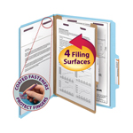 Smead Pressboard Classification Folder with SafeSHIELD® Fasteners 13730, 1 Divider, 2