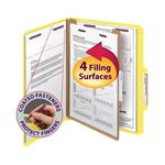Smead Pressboard Classification Folder with SafeSHIELD® Fasteners 13734, 1 Divider, 2