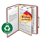 Smead 100% Recycled Pressboard Classification Folder 13746, 1 Divider, 2