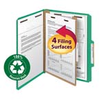 Smead 100% Recycled Pressboard Classification Folder 13749, 1 Divider, 2