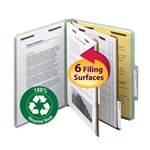 Smead 100% Recycled Pressboard Classification Folder 14023, 2 Dividers, 2