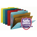 Smead Pressboard Classification Folder with SafeSHIELD® Fasteners 14025, 2 Dividers, 2