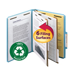 Smead 100% Recycled Pressboard Classification Folder 14056, 2 Dividers, 2