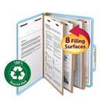 Smead 100% Recycled Pressboard Classification Folder 14090, 3 Dividers, 3