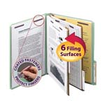 Smead Pressboard Classification File Folder with SafeSHIELD® Fasteners 14215, 2 Dividers, 2