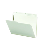 Smead Fastener Folder 14570, 2 Fasteners, 1/2-Cut Printed Tab, Letter, Ivory
