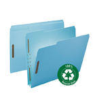 Smead 100% Recycled Pressboard Fastener File Folder 15001, 1/3-Cut Tab, 2