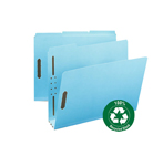 Smead 100% Recycled Pressboard Fastener File Folder 15002, 1/3-Cut Tab, 3