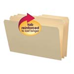 Smead File Folder 15326, Reinforced 1/2-Cut Tab, Legal, Manila
