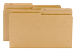 Smead Reversible File Folder 15340, 1/2-Cut Printed Tab, Legal, Natural Sand