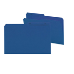 Smead Reversible File Folder 15362, 1/2-Cut Printed Tab, Legal, Navy