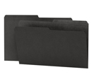 Smead Reversible File Folder 15364, 1/2-Cut Printed Tab, Legal, Black