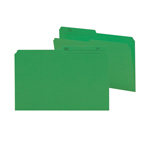 Smead Reversible File Folder 15367, 1/2-Cut Printed Tab, Legal, Dark Green