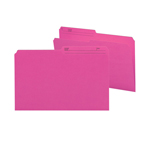 Smead Reversible File Folder 15368, 1/2-Cut Printed Tab, Legal, Dark Pink