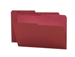 Smead Reversible File Folder 15369, 1/2-Cut Printed Tab, Legal, Maroon