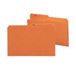 Smead Reversible File Folder 15370, 1/2-Cut Printed Tab, Legal, Orange