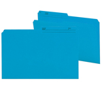 Smead Reversible File Folder 15373, 1/2-Cut Printed Tab, Legal, Sky Blue