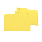 Smead Reversible File Folder 15374, 1/2-Cut Printed Tab, Legal, Yellow