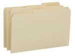Smead File Folder 15434, Reinforced 1/3-Cut Tab, Legal, Manila