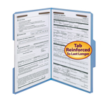 Smead Fastener File Folder 17040, 2 Fasteners, Reinforced 1/3-Cut Tab, Legal, Blue