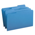 Smead File Folder 17043, 1/3-Cut Tab, Legal, Blue