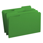 Smead File Folder 17143, 1/3-Cut Tab, Legal, Green