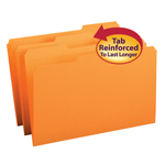 Smead File Folder 17534, Reinforced 1/3-Cut Tab, Legal, Orange