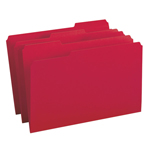 Smead File Folder 17743, 1/3-Cut Tab, Legal, Red