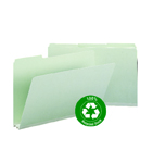 Smead 100% Recycled Pressboard File Folder 18501, 1/3-Cut Tab, 2