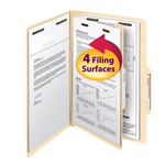 Smead Classification File Folder 18700, 1 Divider, 2