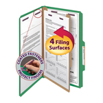 Smead Pressboard Classification Folder with SafeSHIELD® Fasteners 18733, 1 Divider, 2
