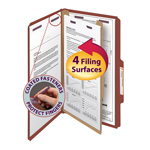 Smead Pressboard Classification Folder with SafeSHIELD® Fasteners 18775, 1 Divider, 2