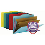 Smead Pressboard Classification Folder with SafeSHIELD® Fasteners 19025, 2 Dividers, 2