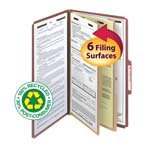 Smead 100% Recycled Pressboard Classification Folder 19046, 2 Dividers, 2