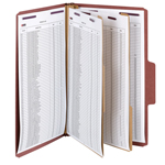 Smead SuperTab® Classification File Folder with SafeSHIELD® Fasteners 19070, 2 Dividers, 2