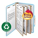 Smead 100% Recycled Pressboard Classification Folder 19090, 3 Dividers, 3
