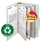 Smead 100% Recycled Pressboard Classification Folder 19093, 3 Dividers, 3