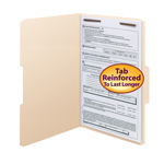 Smead Fastener File Folder 19534, Reinforced 1/3-Cut, Legal, Manila