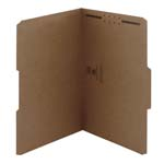 Smead Fastener File Folder 19834, 1 Fastener, Reinforced 1/3-Cut Tab, Legal, Kraft