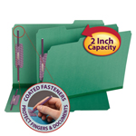 Smead Pressboard Fastener Folder with SafeSHIELD® Fasteners 19938, 2 Fasteners, 1/3-Cut Tab, 2