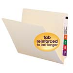 Smead End Tab File Folder 24109, Shelf-Master® Reinforced Straight-Cut Tab, Letter, Manila
