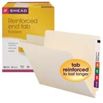 Smead End Tab File Folder 24110, Shelf-Master® Reinforced Straight-Cut Tab, Letter, Manila