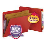 Smead End Tab Pressboard Classification Folder with SafeSHIELD® Fasteners 26783, 2 Dividers, 2
