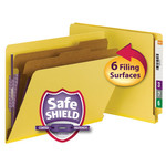 Smead End Tab Pressboard Classification Folder with SafeSHIELD® Fasteners 26789, 2 Dividers, 2