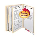 Smead End Tab Classification File Folder 26835, 2 Dividers, 2